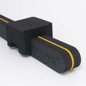 BackMitra Black-Yellow + Pillow Black